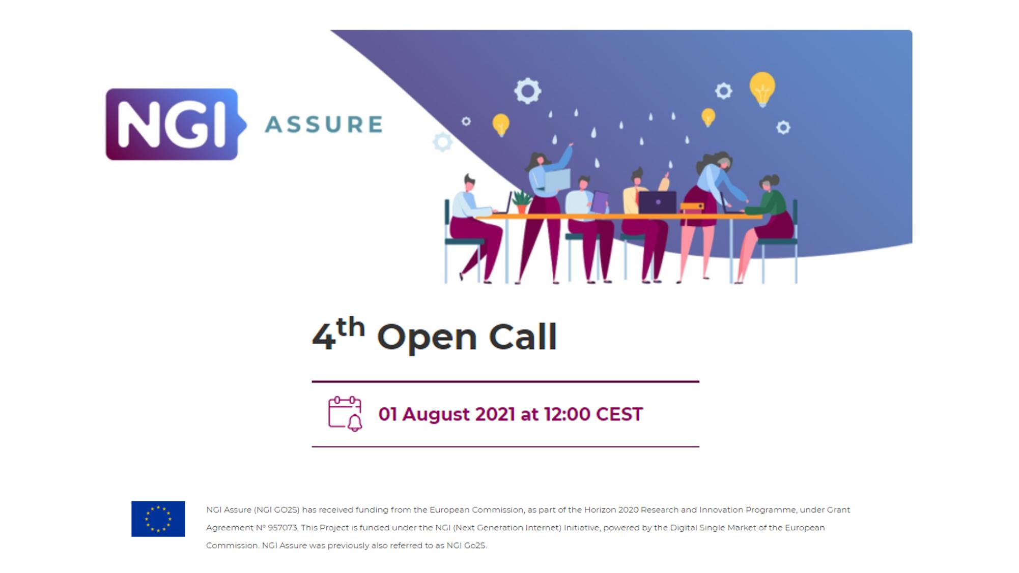 Partecipa alla quarta Open Call del progetto NGI Assure!