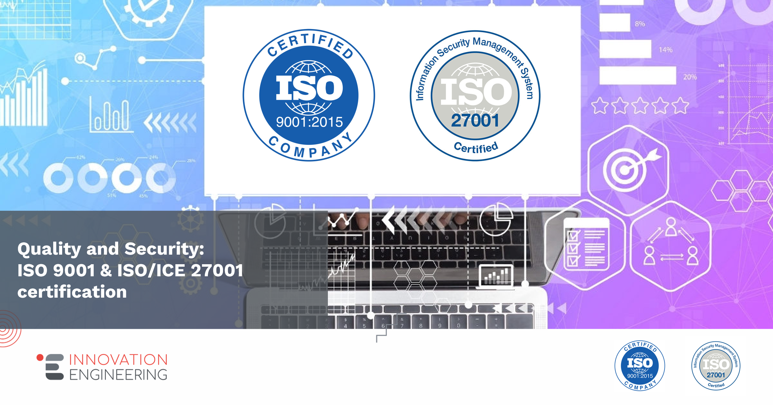 Innovation Engineering: a SME now ISO 9001 & ISO/ICE 27001 certified!